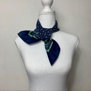 Vtg Desco Mint And Green Floral Scarf Necktie OS